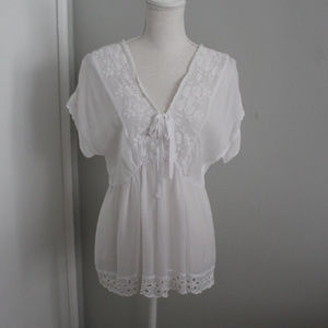 Johnny Was Lace Delicate Blouse